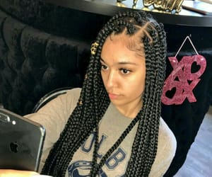 edges and box braids image