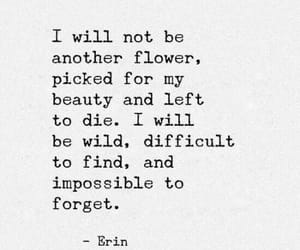 quotes, flowers, and beauty image