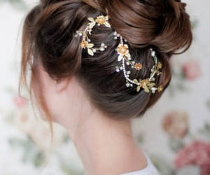 etsy, flower headpiece, and floral hair comb image