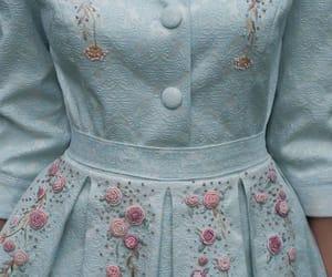 blue, dress, and vintage image