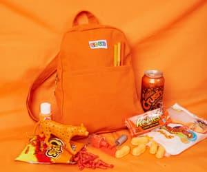 orange, schoolbag, and orange schoolbag image