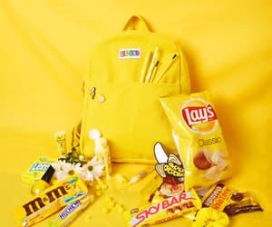 schoolbag, yellow, and yellow schoolbag image