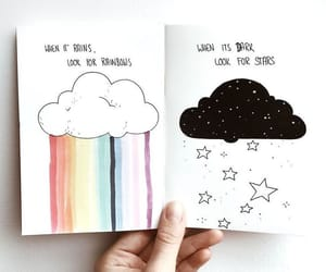 rainbow, stars, and drawing image