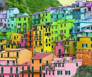 colored houses image