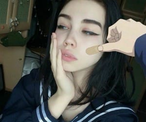 girl, aesthetic, and anime image