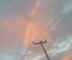 aesthetic, rainbow, and sky image