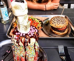 burger, caffee, and chocolate image