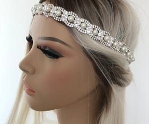 etsy, pearl headpiece, and pearl hair crown image