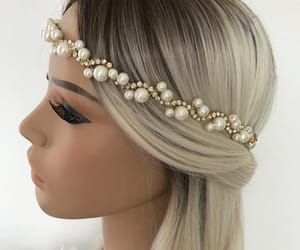 etsy, pearl headpiece, and wedding hair vine image
