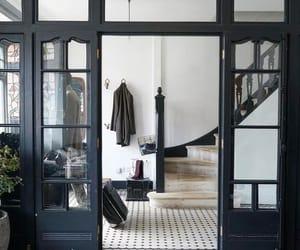 black, design, and door image