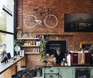 home, place, and coffee image
