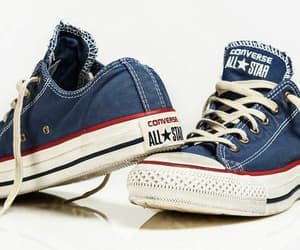 all star, blue shoes, and blue image