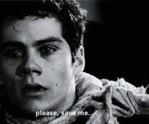 bad, dylan o'brien, and black&white image