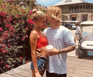 hailey baldwin, justin bieber, and couple image