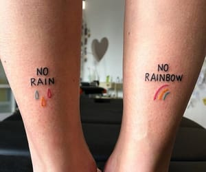 rain, rainbow, and beautiful image