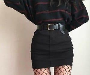 fashion, fishnet, and skirt image