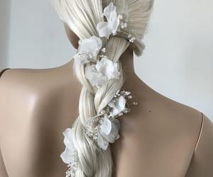 wedding headpiece, pearl tiara, and pearl hair crown image