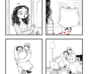 love, comic, and couple image