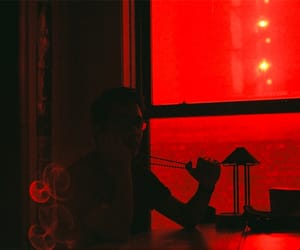 photography, red, and silhouette image