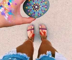 art, carefree, and summer image