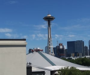 rooftops, seattle, and Space Needle image
