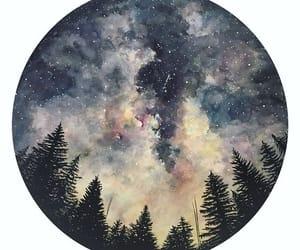 bosque, circulo, and estrellas image