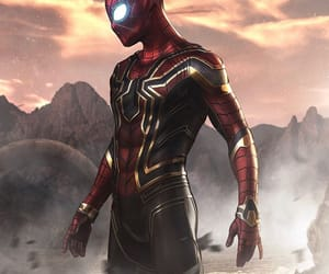 iron man, Marvel, and spider man image