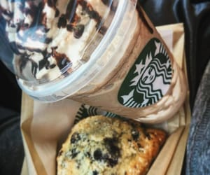 chocolate, foods, and frappucino image