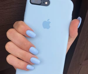 blue, aesthetic, and apple image