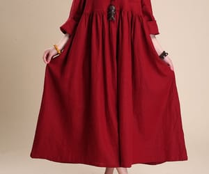 women dress, casual dresses, and long sleeved image