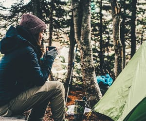 camp, girl, and tree image