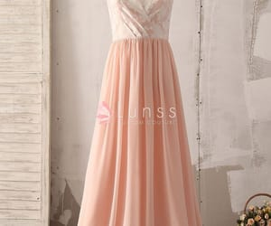 elegant, fashion, and bridesmaid dress image
