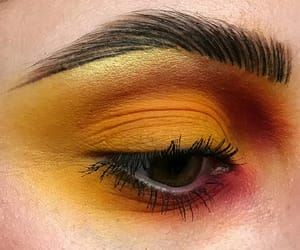 brown, eyebrows, and make up artist image