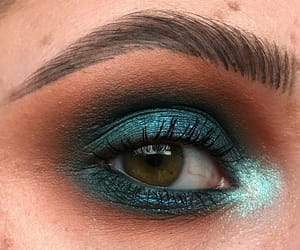 blue, glitter, and make up image