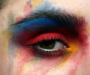 blue, eyebrows, and eyeshadow image