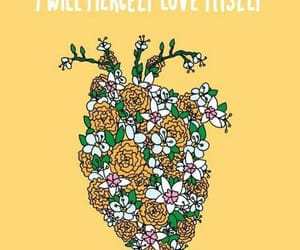 heart, flowers, and quotes image