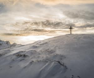 crosses, snow, and mountains image