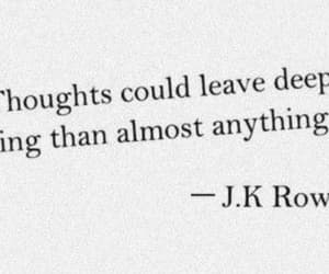 quotes, jk rowling, and thoughts image