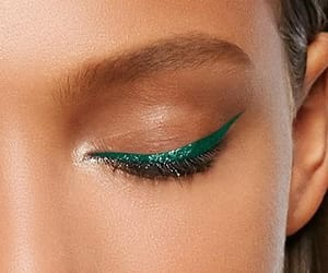 green, makeup, and maquillage image