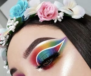 eye, makeup, and eyebrows image