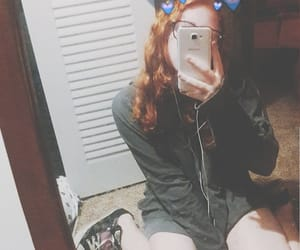 girl, overlay, and profile image