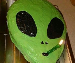 alien, cake, and green image