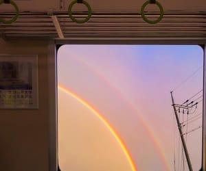 aesthetic, rainbow, and train image