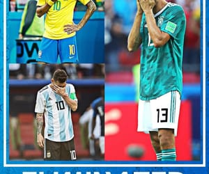 argentina, brazil, and soccer image