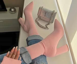 boots, fashion, and pink image