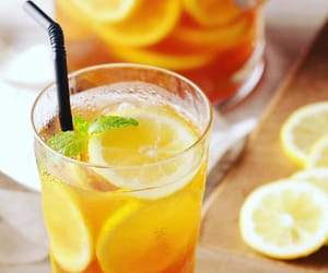 drink, lemon, and drinks image