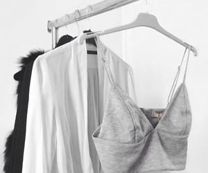 aesthetic, b&w, and clothing image