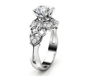 whitegoldring, diamond ring, and etsy image