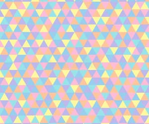 colorful, texture, and triangles image