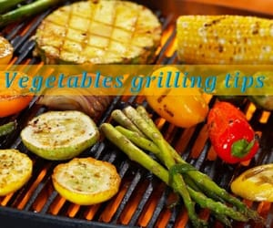 skewer, grandma tips, and gas grill image